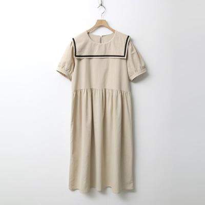 Sailor Puff Long Dress