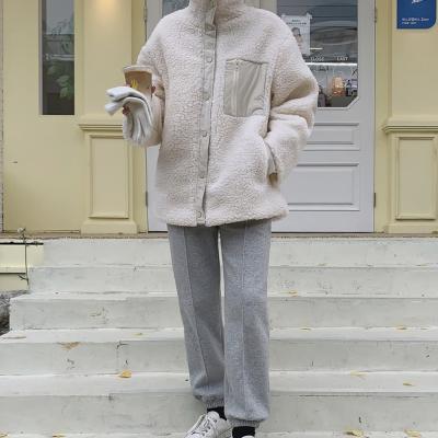 여성 가을 데일리 양털 패딩 점퍼 자켓 베인 후리스