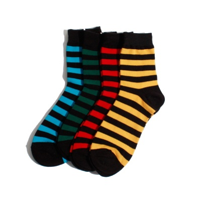 [4팩] 남/여 공용 2577 #COLORING STRIPE SOCKS