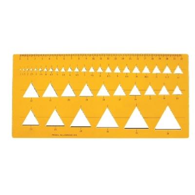 [정안사] 템플레이트 K-107 삼각형판 [개/1]  94333