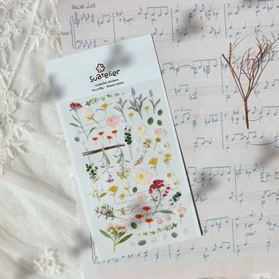 JR 스티커 1089-flower letter