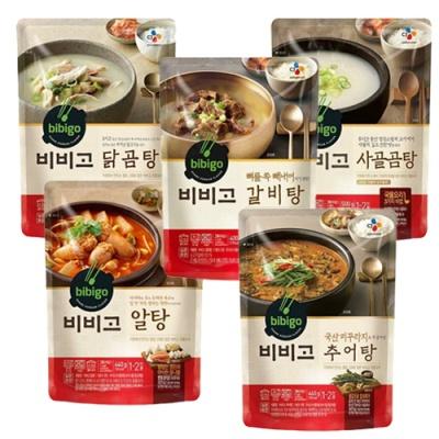 [CJ제일제당] 사골곰탕+갈비탕+닭곰탕+알탕+추어탕