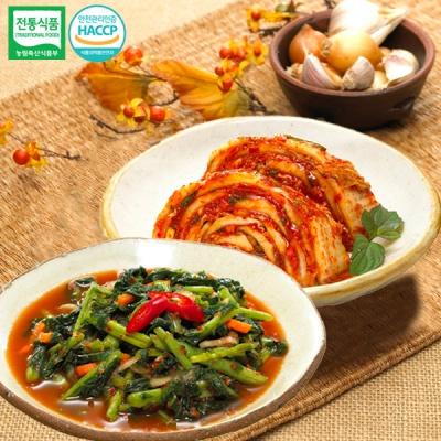 [명가김치] 국내산 열무김치 5kg+맛김치 3kg