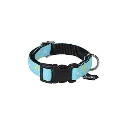 star(sky blue) jacquard ribbon collar