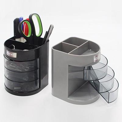 사무용품 책상정리 3단수납 다기능 연필꽂이 펜정리함