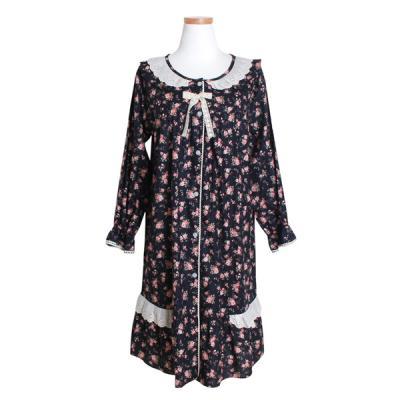 [쿠비카]순면 긴소매 라운드 원피스 여성잠옷 W401