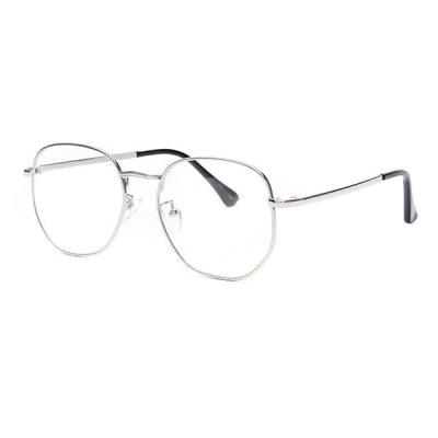 shine 육각 실버 얇은테 안경 금속테안경 메탈안경