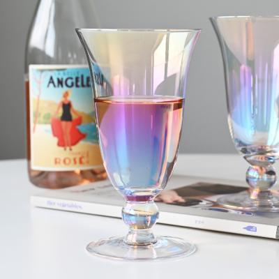 폴트 홀로그램 고블렛잔 와인잔 높은형 300ml