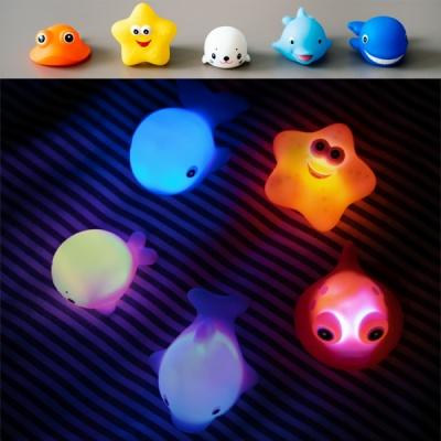 LED 물고기친구들 목욕놀이 물놀이 장난감 바다친구들