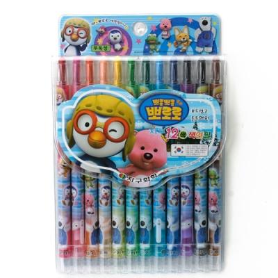 12색 뽀로로 샤프식 색연필