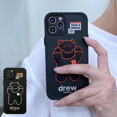 아이폰12 미니 11 pro max 컬러 라인 곰돌이 폰케이스