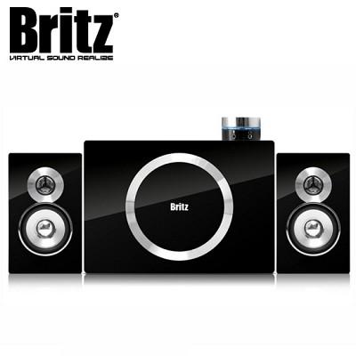 [브리츠] 스피커 BR-2100S5 (2.1채널 / 40W / 유선리모컨 / 헤드폰 & 마이크 단자 / 클립방식 연결 단자 / MDF / 벽걸이용 홀)