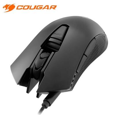 쿠거 게이밍 마우스 COUGAR 500M (4000DIP / 1000Hz 폴링 스피드 / DPI 변환 버튼 / 서브 버튼 / OMRON 마이크로 스위치)