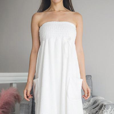 [쿠비카]빅 스모킹 양면 극세사 랩 가운 여성잠옷W243