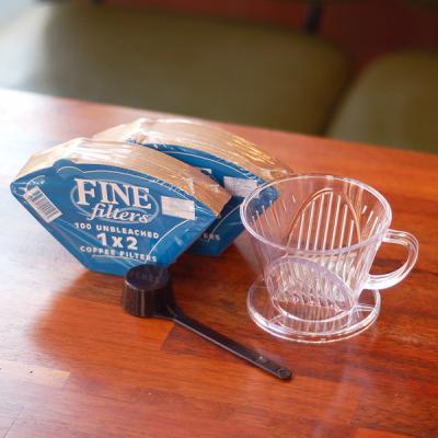 커피한콩 투명드립세트 (투명드리퍼+필터200장)