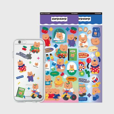 Jelly case sticker set(Lets covy)