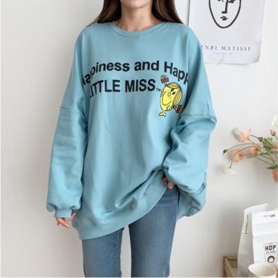 여성 여자 맨투맨 티셔츠 리우 오버핏 프린팅