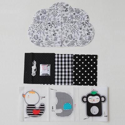[꼼지] 구름 흑백모빌 만들기 D.I.Y
