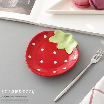 [2HOT] 딸기 접시 RED