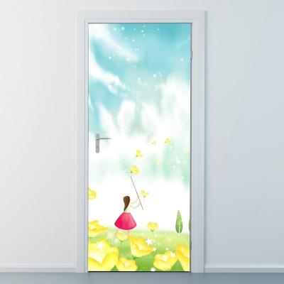 nces264-꽃을따라서-현관문시트지