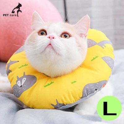 힐링타임 강아지 도넛 쿠션 넥카라 (옐로우폭스) (L)