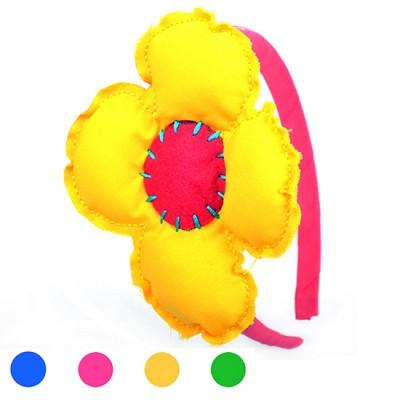 [헤어보우] 비비드플라워 헤어밴드-Yellow