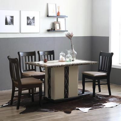 티케 느베르 대리석 4인식탁세트