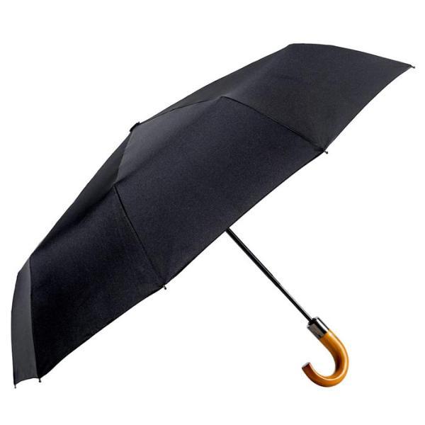 나무손잡이 3단자동 우산 블랙 CH1416522