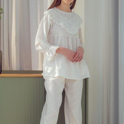 Angel 삼각 프릴 레이스 투피스 파자마 잠옷