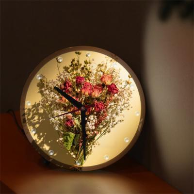 nf345-LED시계액자25R_로맨틱한꽃다발