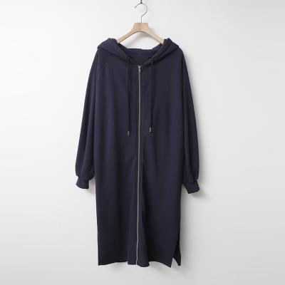 Spring Hooded Zip-Up Long Jumper