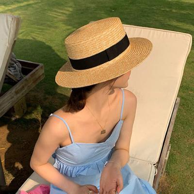달몬 둥근 여성 바캉스 여행 패션 라탄모자