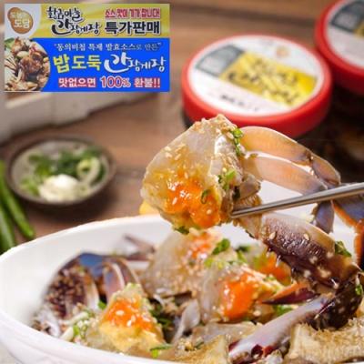[동의비첩 특제소스] 황금마늘 간장 꽃게장 1kgx3통