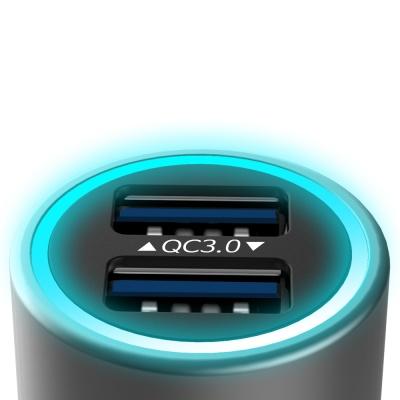 비숍 풀메탈 LED 퀵차지3.0 듀얼 차량용 고속 시거잭