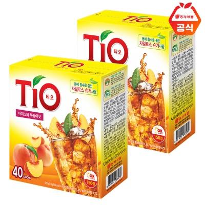 티오 아이스티 복숭아 40T 2개
