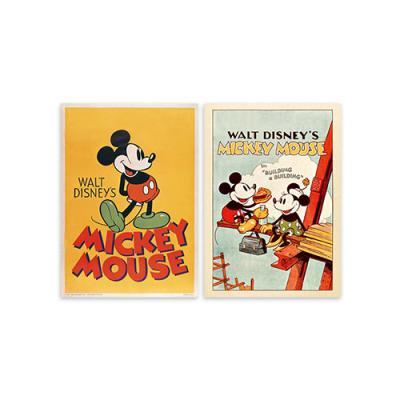 디즈니 미키 마우스 프레임 포스터 세트 1