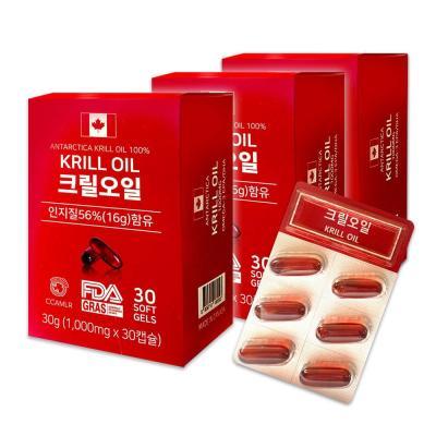 캐나다직수입 웰유팜 100% 크릴오일캡슐 1000mg 90정
