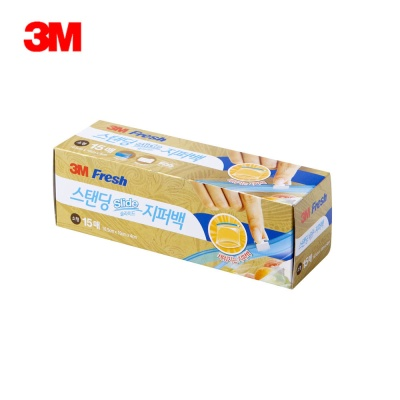 3M 스탠딩 슬라이드지퍼백 (소) 15매