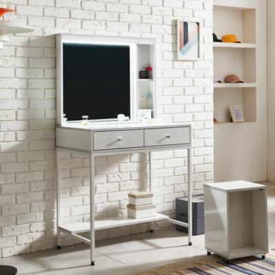 철재 루디 LED조명 화장대+의자세트