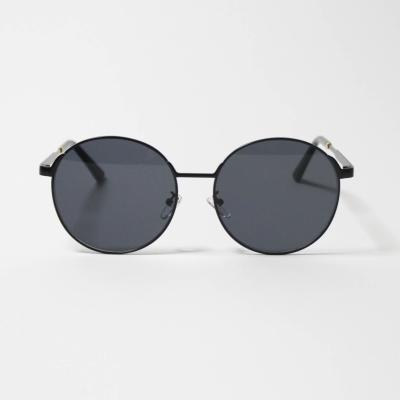 원형 블랙 패션 선글라스