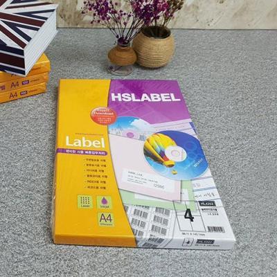 Hnasol Label Paper 100매 HL4202 물류관리용 4칸