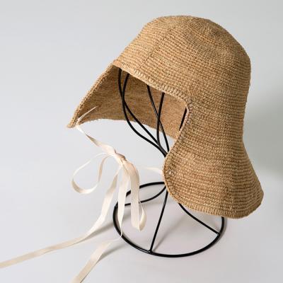 [더로라]쪽두리 밀짚 모자-라피아 쪽두리 모자 H004