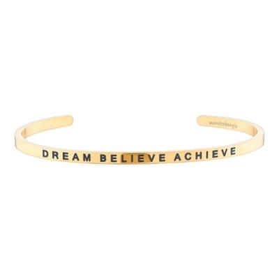 [만트라뱅글] DREAM BELIEVE ACHIEVE - 골드