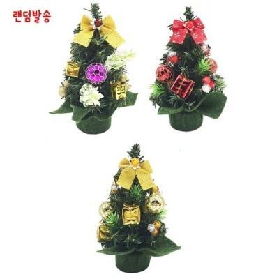 탁상용 크리스마스 트리(색상랜덤) 약5.5x20cm