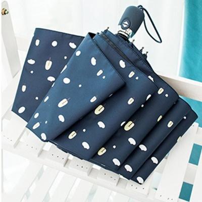 네이비 3단 자동 이쁜 우산 패션 양우산 선물