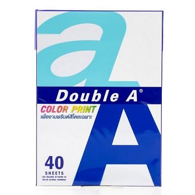 더블에이 칼라 프린트용지 A4 90gsm 40매