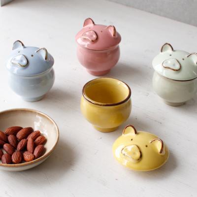 (남승일 도자기) 돼지 소주잔2P - 4color