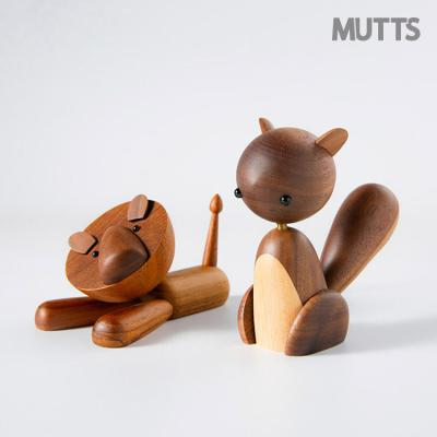 머츠샵 귀여운 목각 동물인형/사자/다람쥐/말