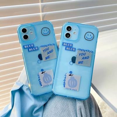 아이폰 케이스 12 11 프로 맥스 미니 X 8 블루데이