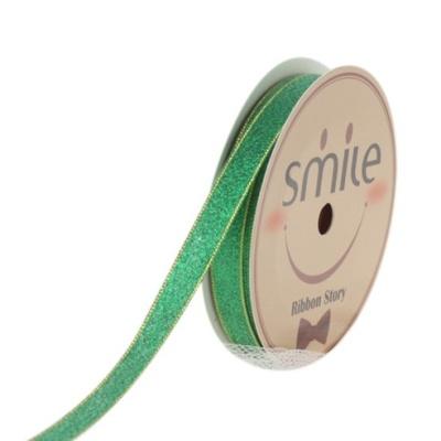 메칼릭 금사리본 04번 초록 12mm (9미터 컷팅롤)